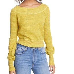 NWT free people sugar rush off shoulder sweater L